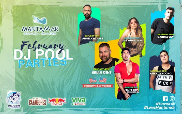 FEBRERO DJ POOL PARTIES