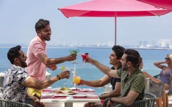 beachfront lunch | Best Gay Hotel Puerto Vallarta