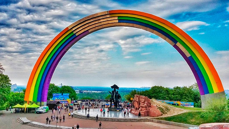 The biggest rainbow in the world celebrates diversity