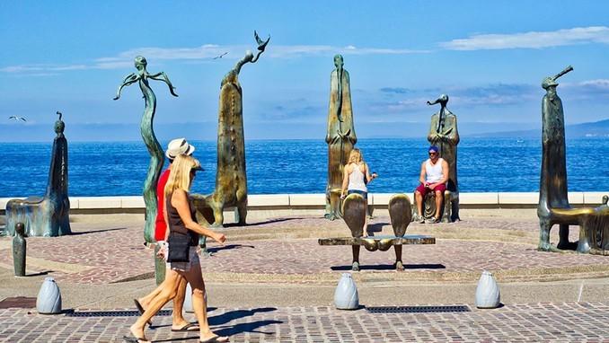 El arte está al aire libre en Puerto Vallarta